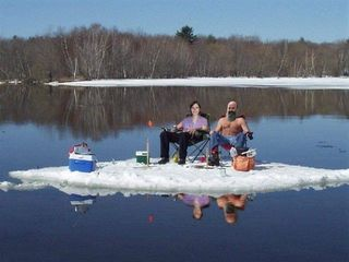 New report sheds light on disappointing winter nature of for Ice fishing maine