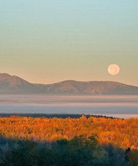 Moon over Katahdin