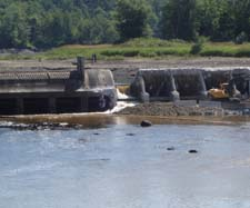 In July, 2008, after more than five years of legal battles by NRCM and our partners, the Fort Halifax Dam at the mouth of the Sebasticook River in Winslow was finally removed.