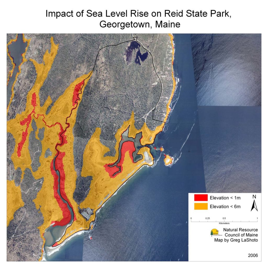 Maps Maine Communities Affected Sealevel Rise - Sea levels rising map