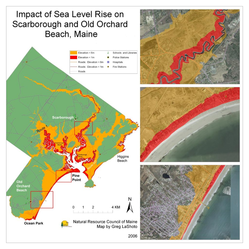 Maps Maine Communities Affected Sea Level Rise