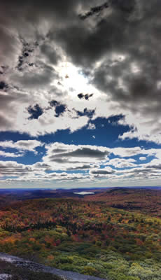 The view from the top of Chick Hill in Clinton. Photo by Andrea Blunt of Bangor, Maine.