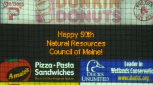 A scoreboard shout out to NRCM on our birthday!
