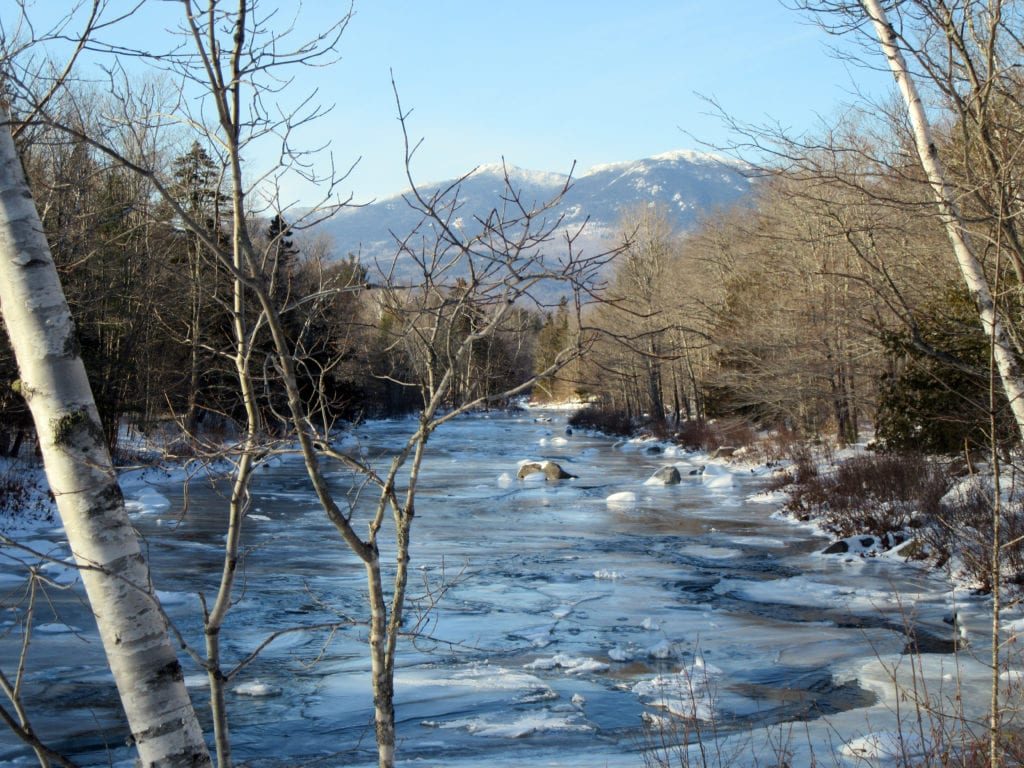 Carrabassett Stream with Bigelow by Linda Woods