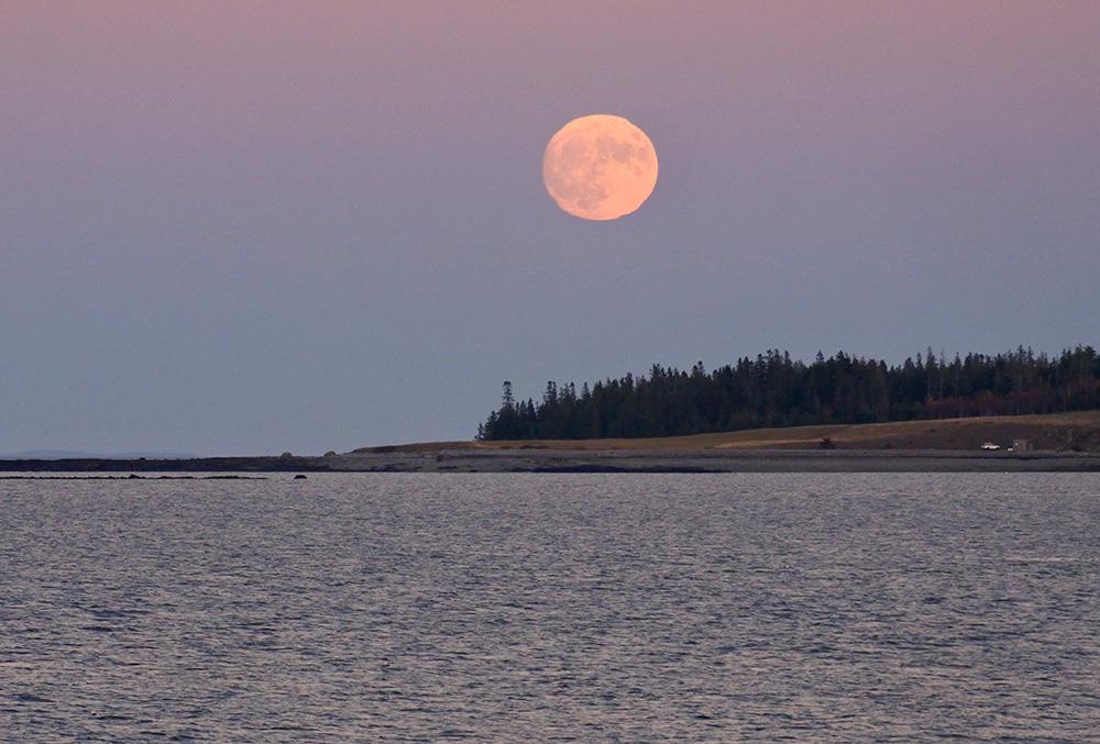 super moon Tenants Harbor