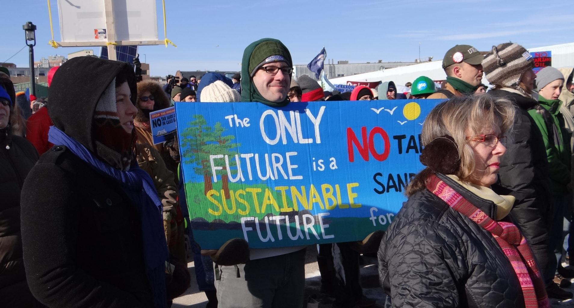 tar sands rally
