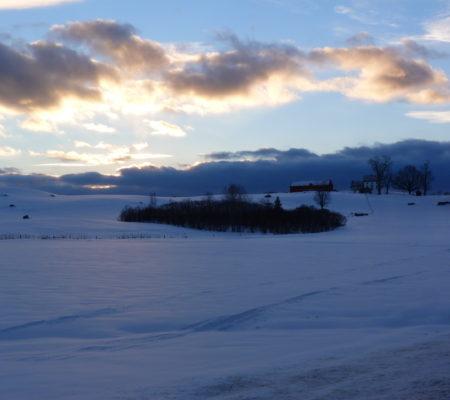 Sunset Over Norridgewock and Mercer