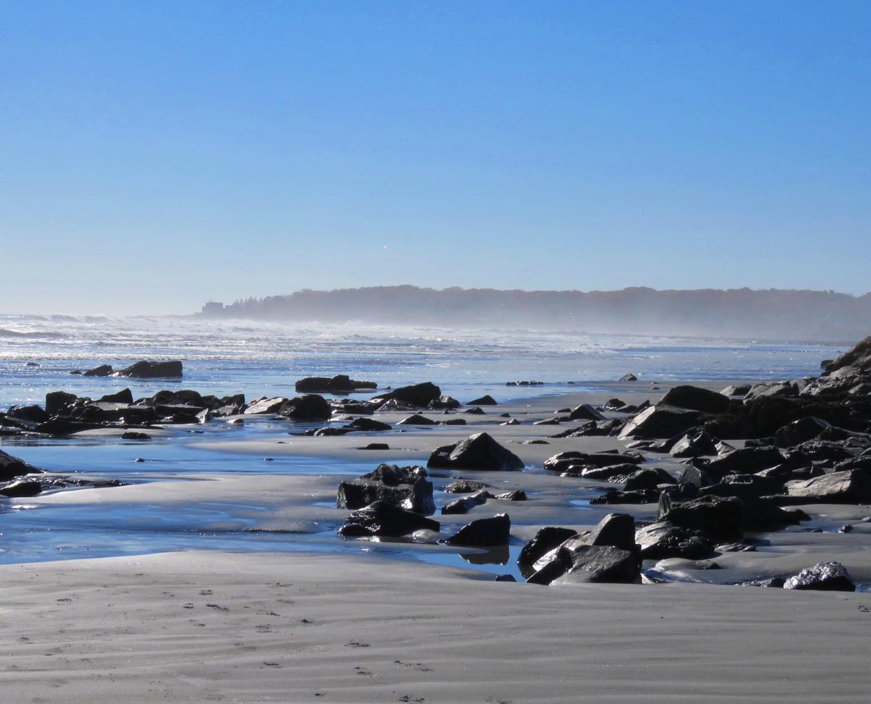 misty morning York Beach by Jayne Winters