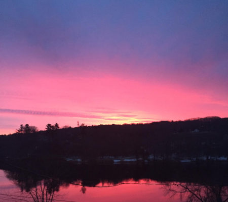 Sunrise over Kennebec by Susan Adams