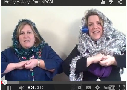 Allison and Beth sing holiday song