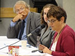 Susan Linn, from the Campaign for a Commercial-free Childhood, testifies in support of an expansion of Maine's BPA ban.