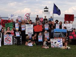 Tar sands rally in South Portland (photo by Beth Dimond)