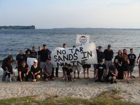 Tar sands rally on the shore of Sebago Lake in Raymond (photo by Todd Martin)