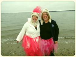 "My friend Janine plunged last year and this year will plunge as one of my ""bridesmaids."""