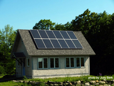 Solar panels in Northport, Maine.