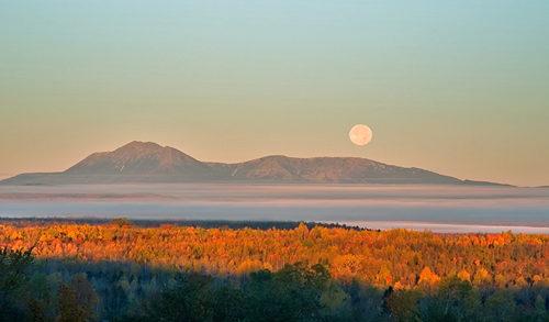 Moon over Katahdin