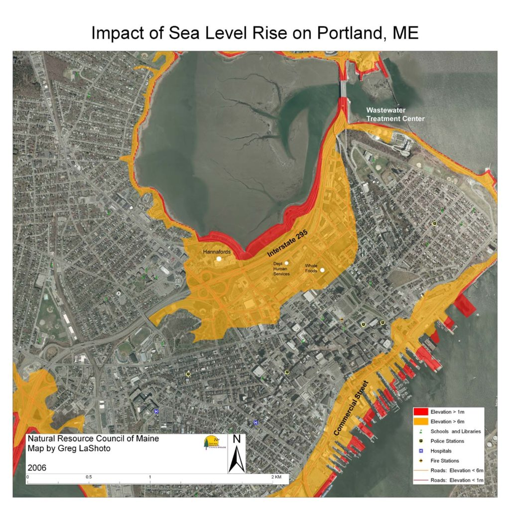 effects of sealevel rise on maine natural resources