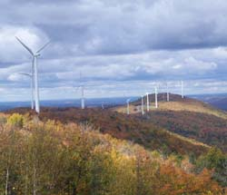 Second Mars Hill Wind Tour Participants Enjoy Beautiful Fall Foliage, a Strong Breeze, and Learning First-hand about Maine's Only Up-and-Running Wind Farm