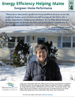 Evergreen Home Performance, Rockland, and Camden homeowner