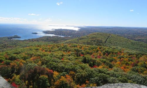Camden Harbor from Mount Megunticook