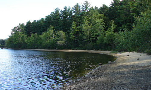 Southerh Sand Beach at Rancourt Preserve.