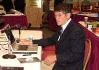 Neil McCubbin prepares to testify at the BEP hearing on May 10, 2007.
