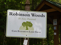 Robinson Woods sign