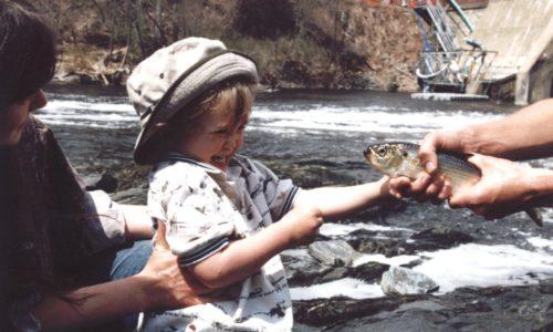 Sam with fish