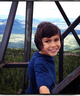 Martin on fire tower