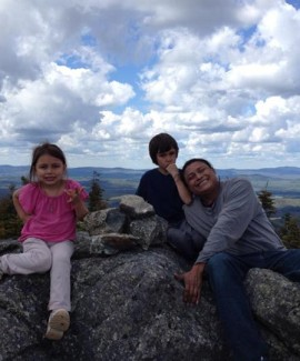 family atop Number Five Mountain