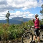 biking on KWWNM Katahdin Loop Road - photo by Scott Spaulding