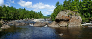 Haskell Rock Falls, East Branch of the Penobscot River