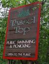 Tassel top sign