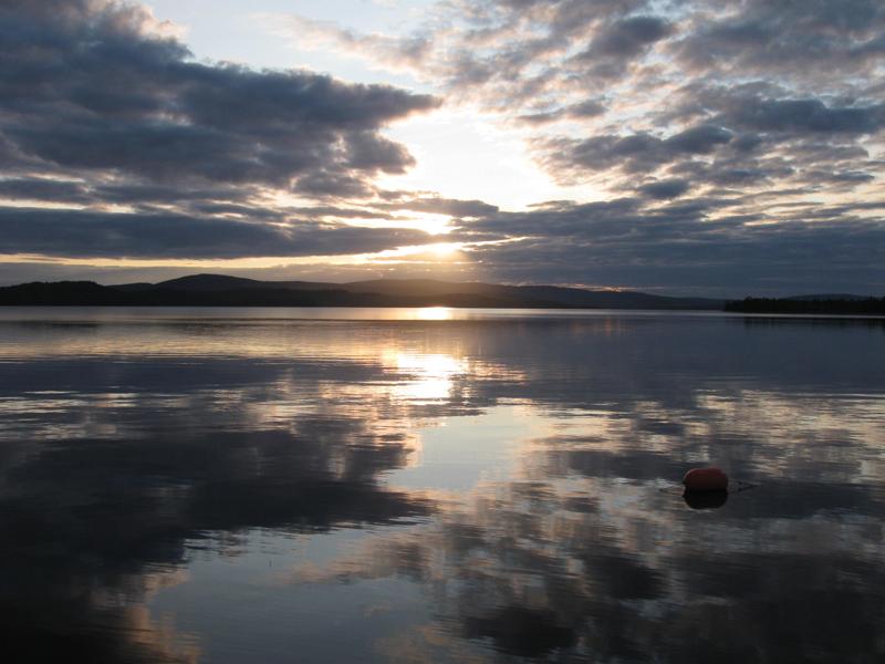 Caucomgomoc Lake dam