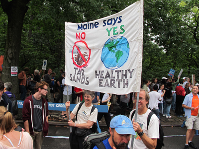 Cathy at NYC Climate Change March Sept 21 2014