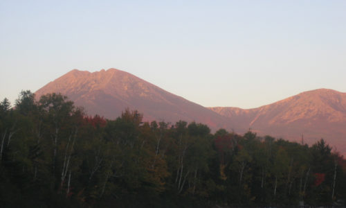 Katahdin early morning from Katahdin Lake by Sam Horine
