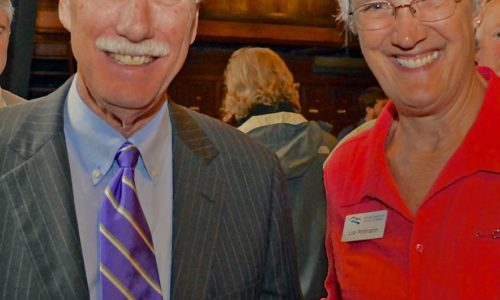 Senator Angus King and Lisa Pohlmann