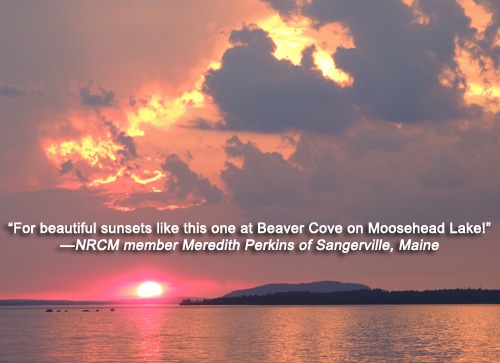 Moosehead sunset
