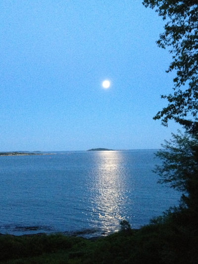 Moonrise over Ragged Island