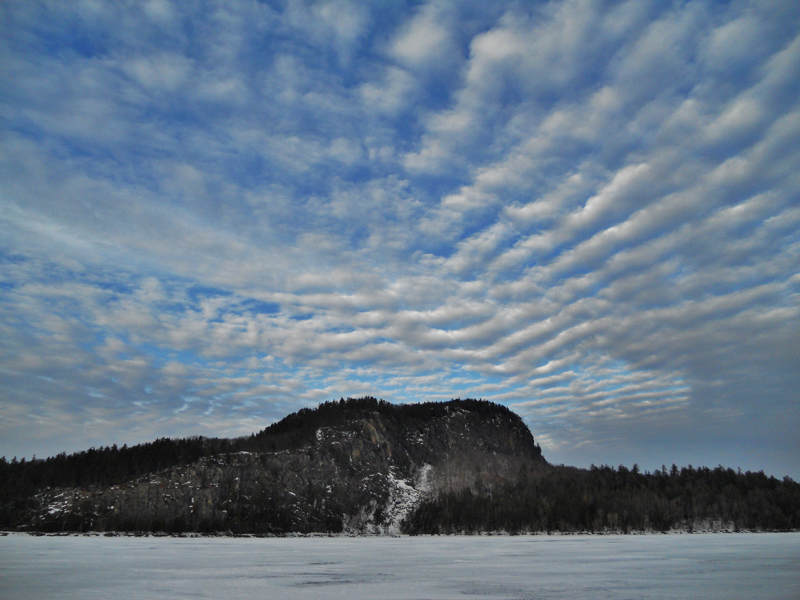 Mackerel sky over Kineo