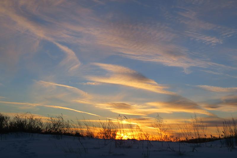 Winter Sunset at Seapoint Beach Kittery Betty Olivolo