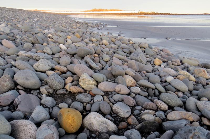 Winter on Seapoint Beach Kittery Betty Olivolo