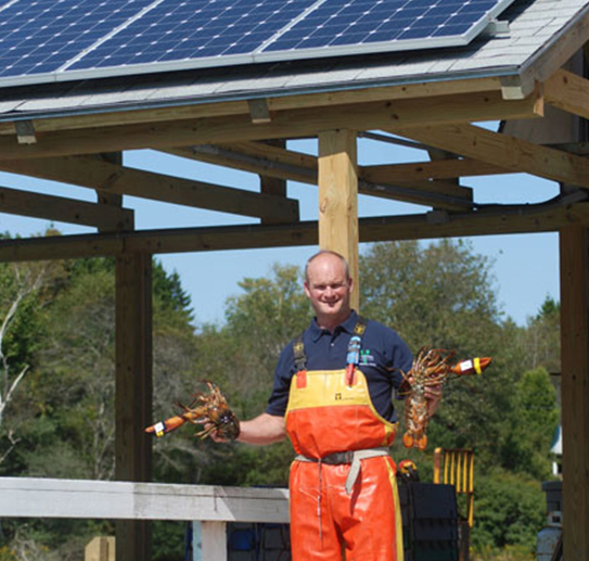 Potts Harbor Lobster with solar panels