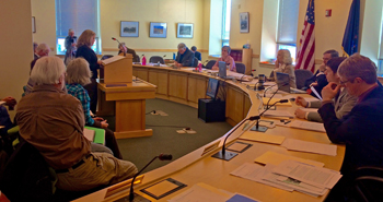 Shelly Mountain, of Aroostook County, testifying in opposition to weak mining rules.