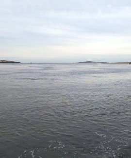 Popham Beach near the fort