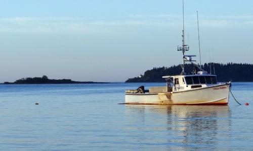 Lobster boat in Potts Harbor