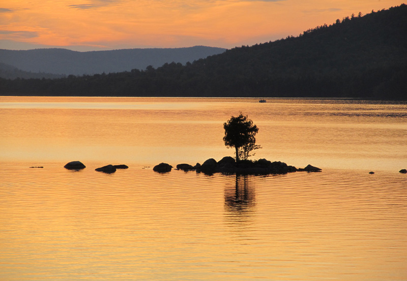 Sunset over Pemadumcook Lake