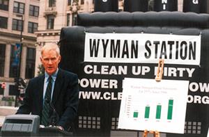 Brownie Carson at Wyman press conference Portland 2000