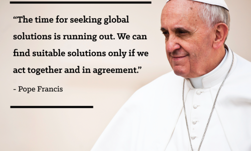 Pope Francis on climate change