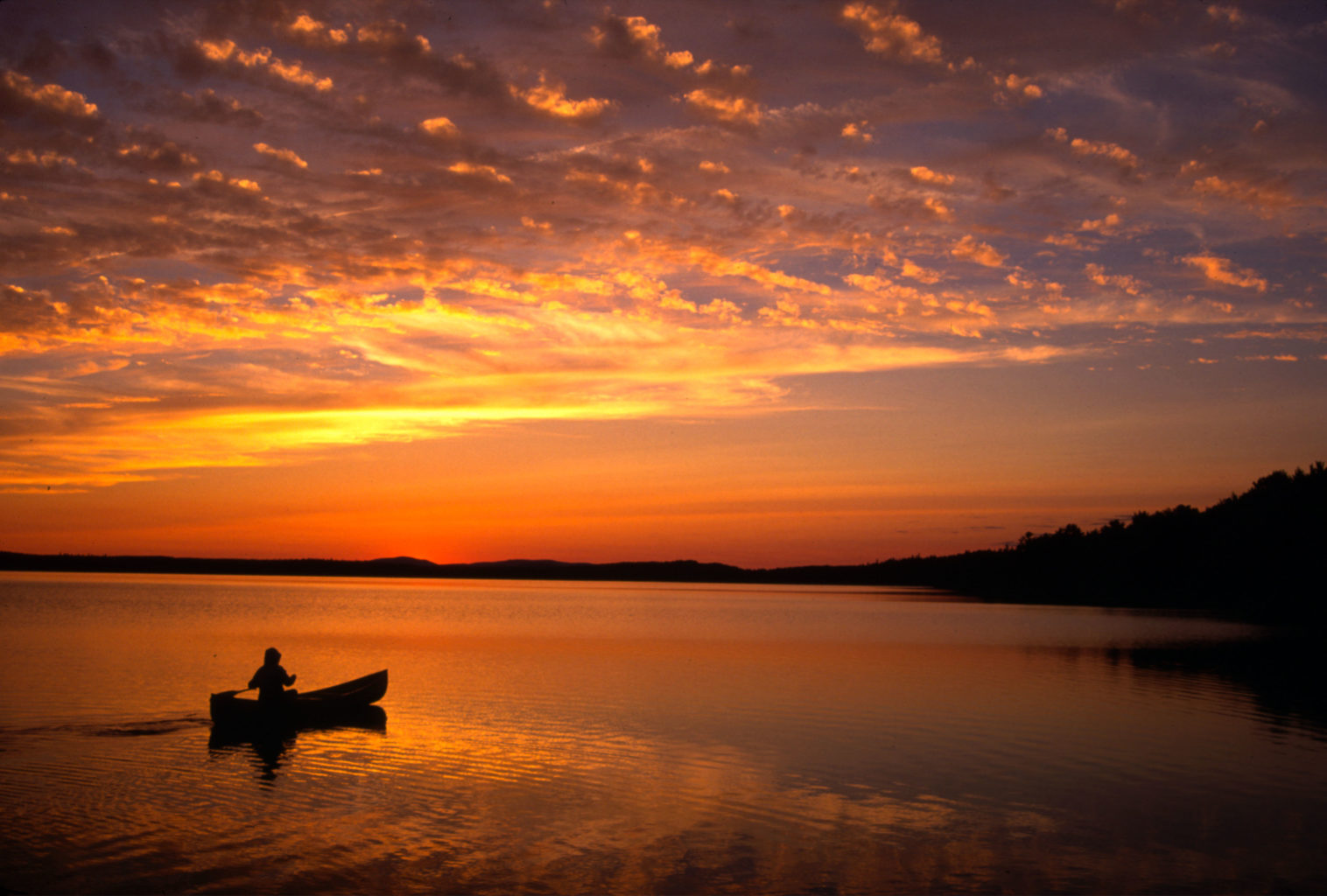 Chesuncook sunset Gero Island by Jym St. Pierre